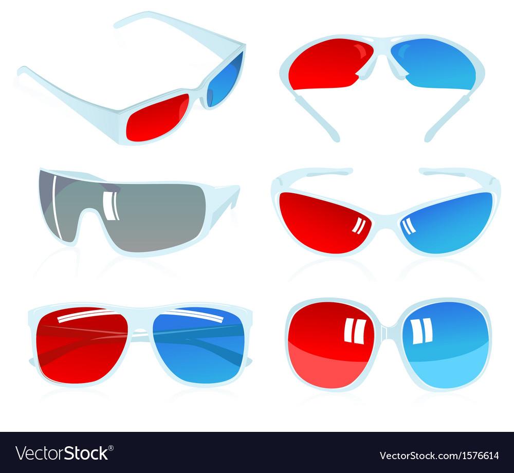 3d glasses vector | Price: 1 Credit (USD $1)