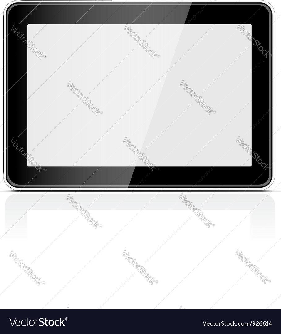 Black generic tablet pc vector | Price: 1 Credit (USD $1)