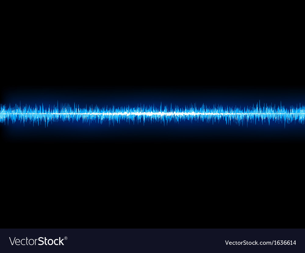 Blue sound wave on white background  eps10 vector | Price: 1 Credit (USD $1)