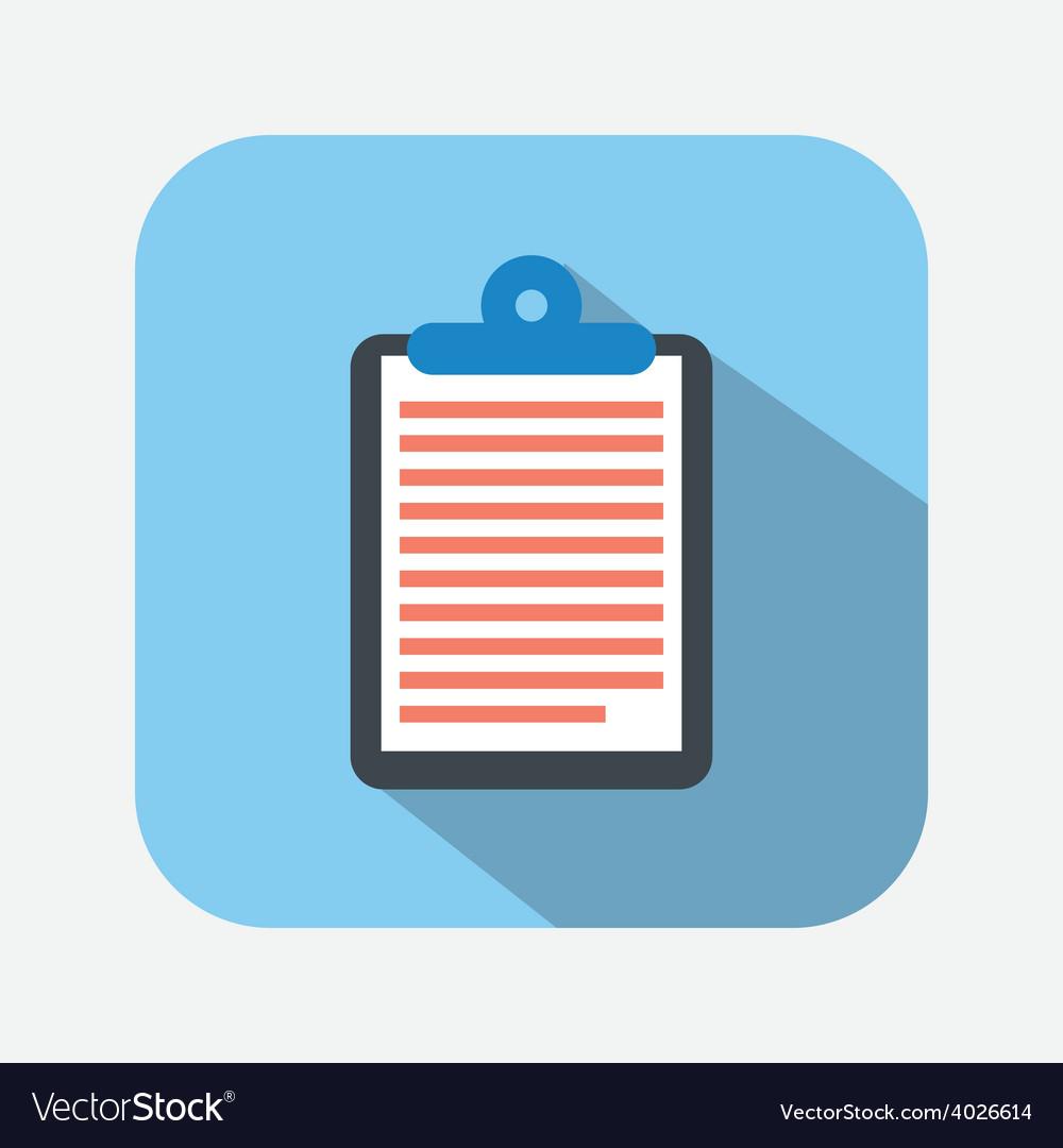Clipboard icon vector   Price: 1 Credit (USD $1)
