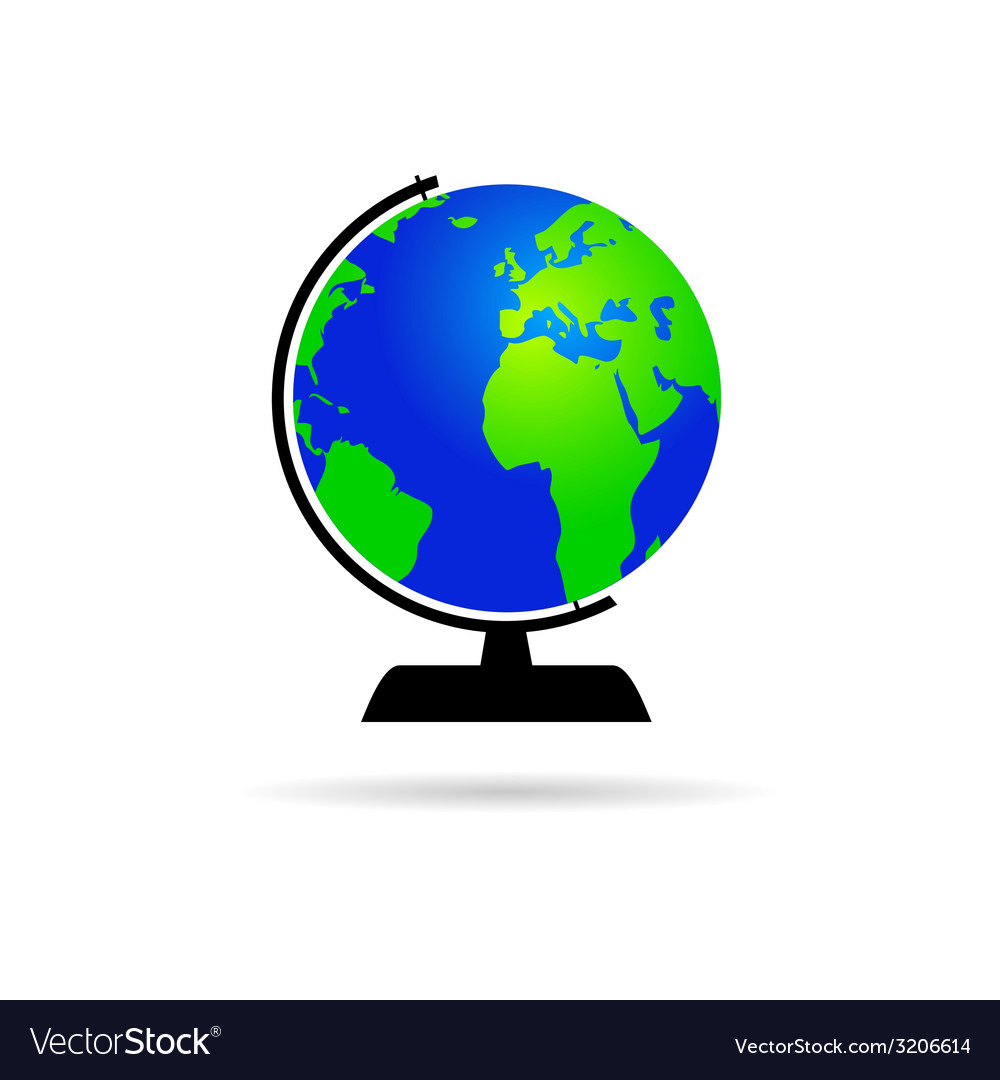 Globe of the world color vector | Price: 1 Credit (USD $1)