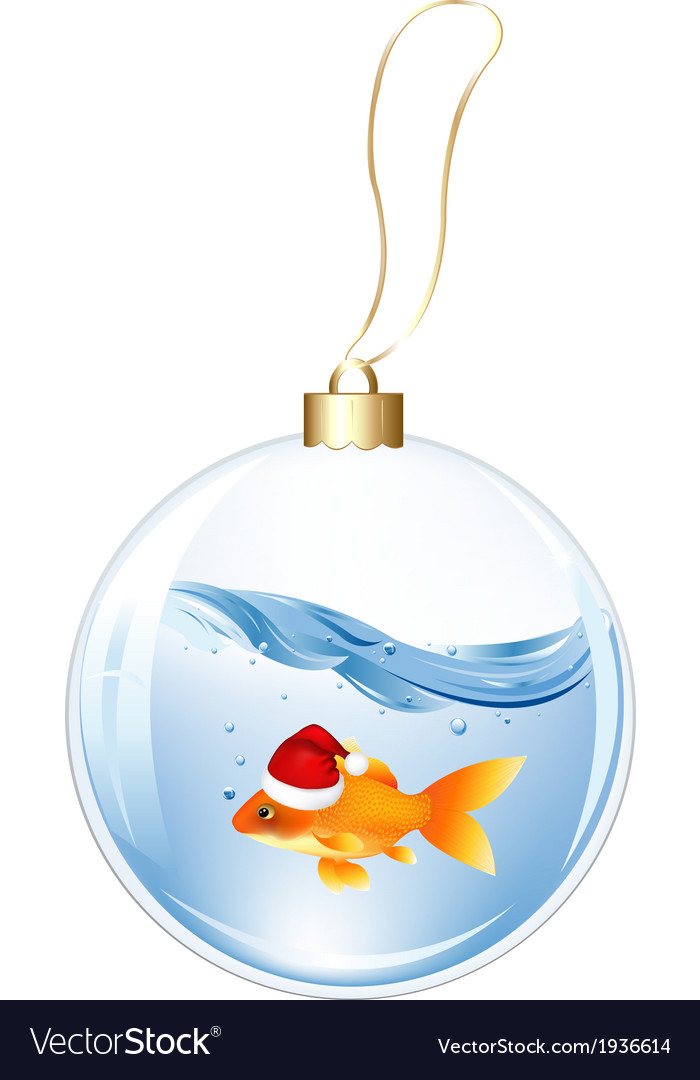 New years sphere with goldfish vector | Price: 1 Credit (USD $1)