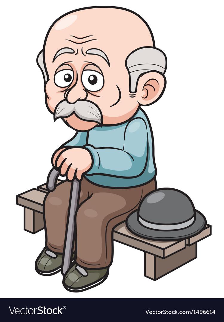 Old man vector | Price: 1 Credit (USD $1)