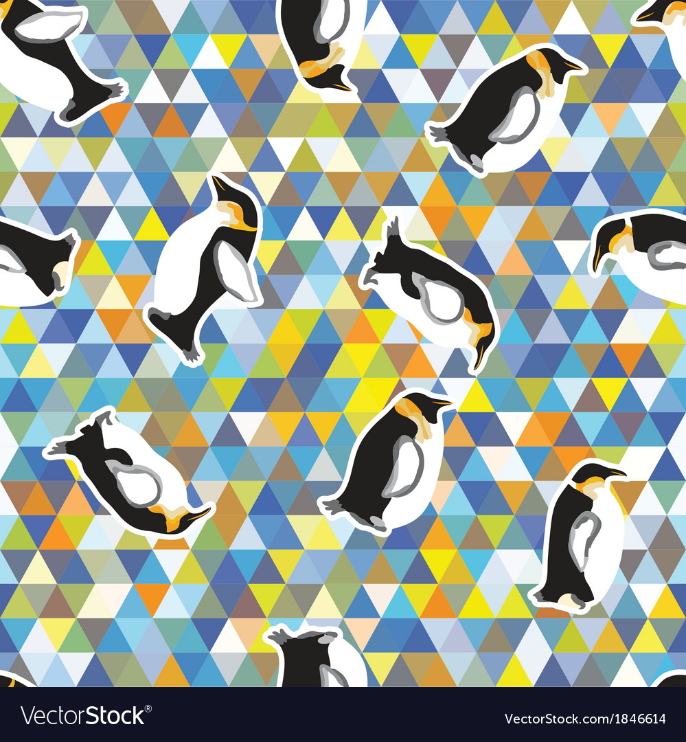 Penguin and a triangular design vector | Price: 1 Credit (USD $1)