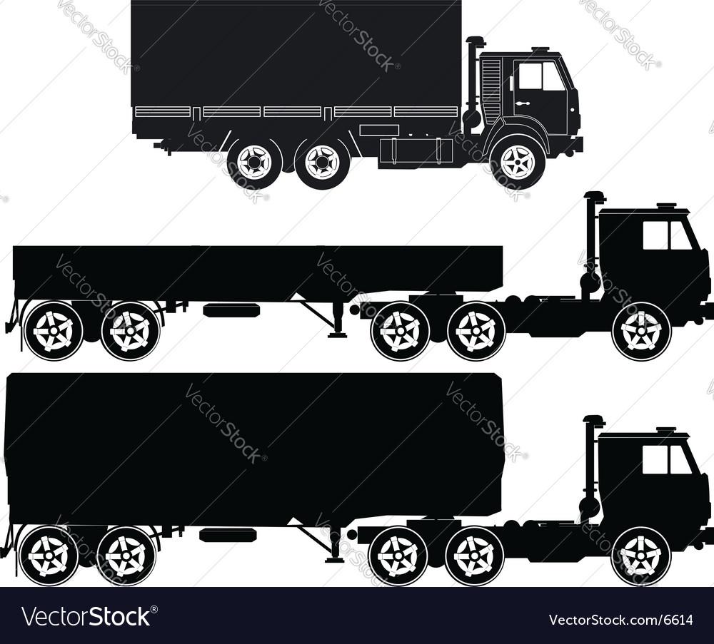 Set of truck s vector