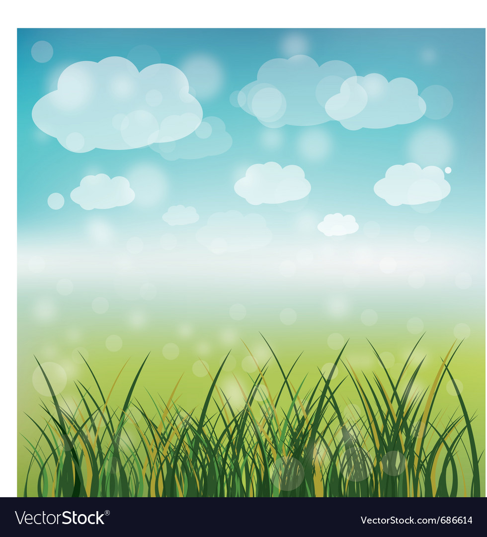 Spring green field vector | Price: 1 Credit (USD $1)