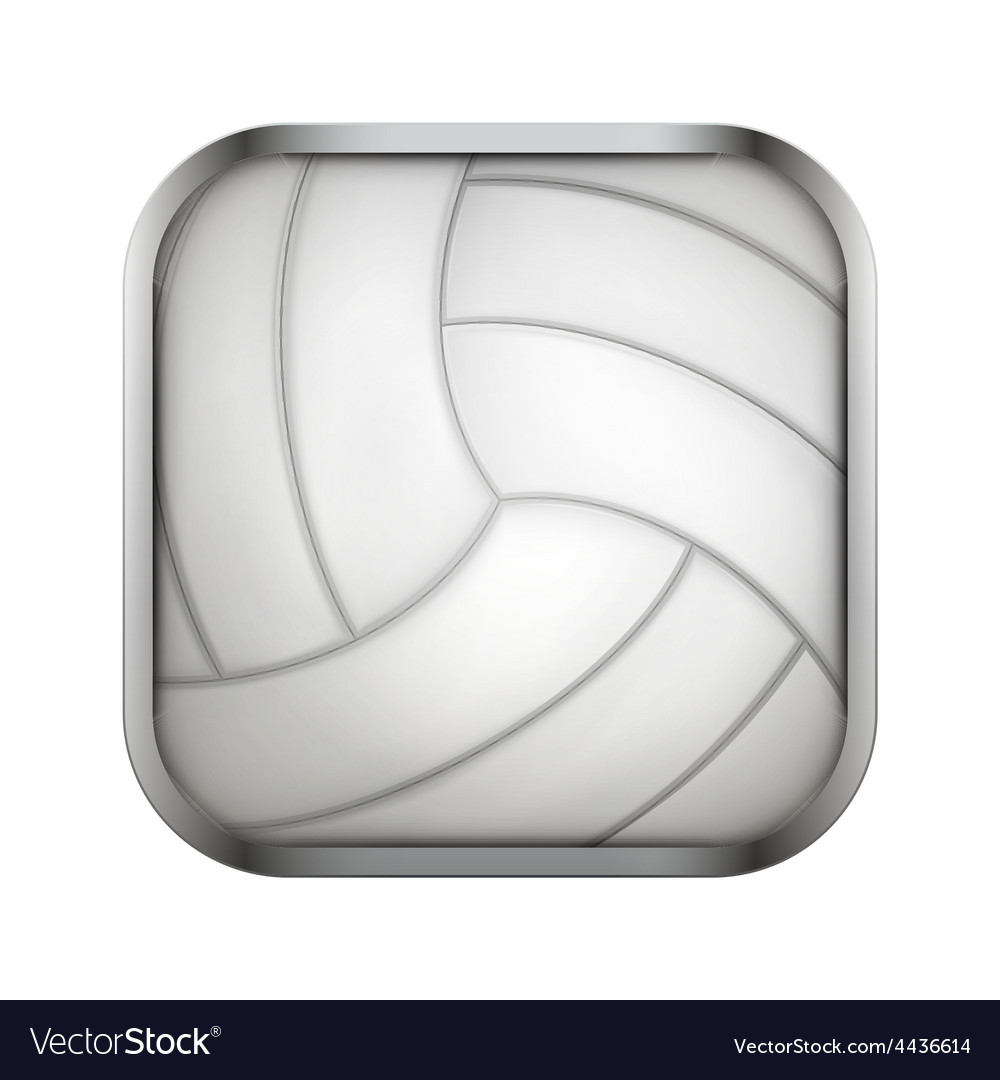 Square icon for volleyball app or games vector | Price: 1 Credit (USD $1)