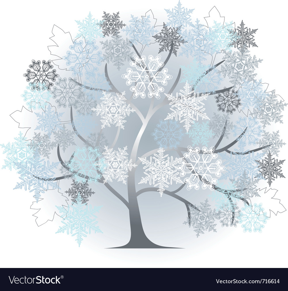 Winter silhouette vector | Price: 1 Credit (USD $1)