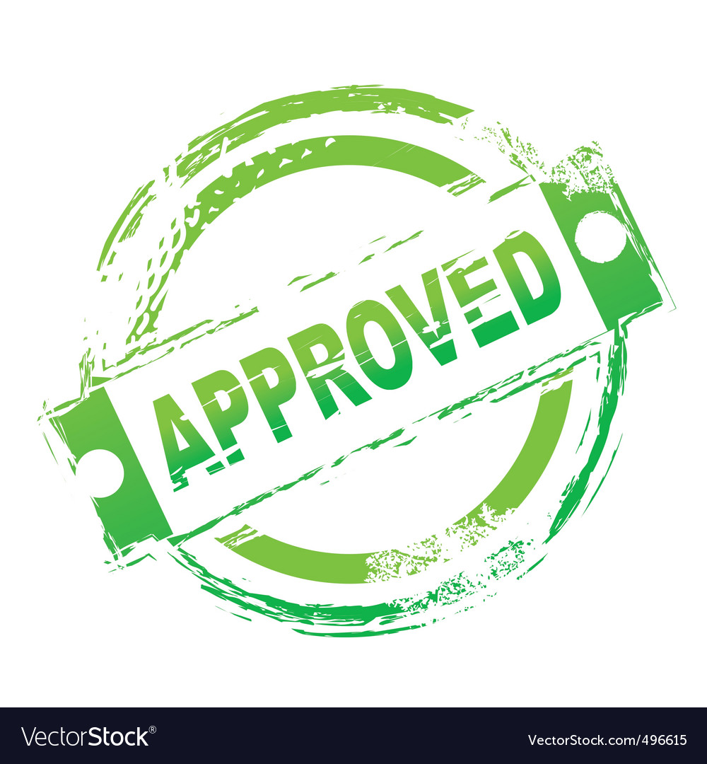 Approved seal vector | Price: 1 Credit (USD $1)