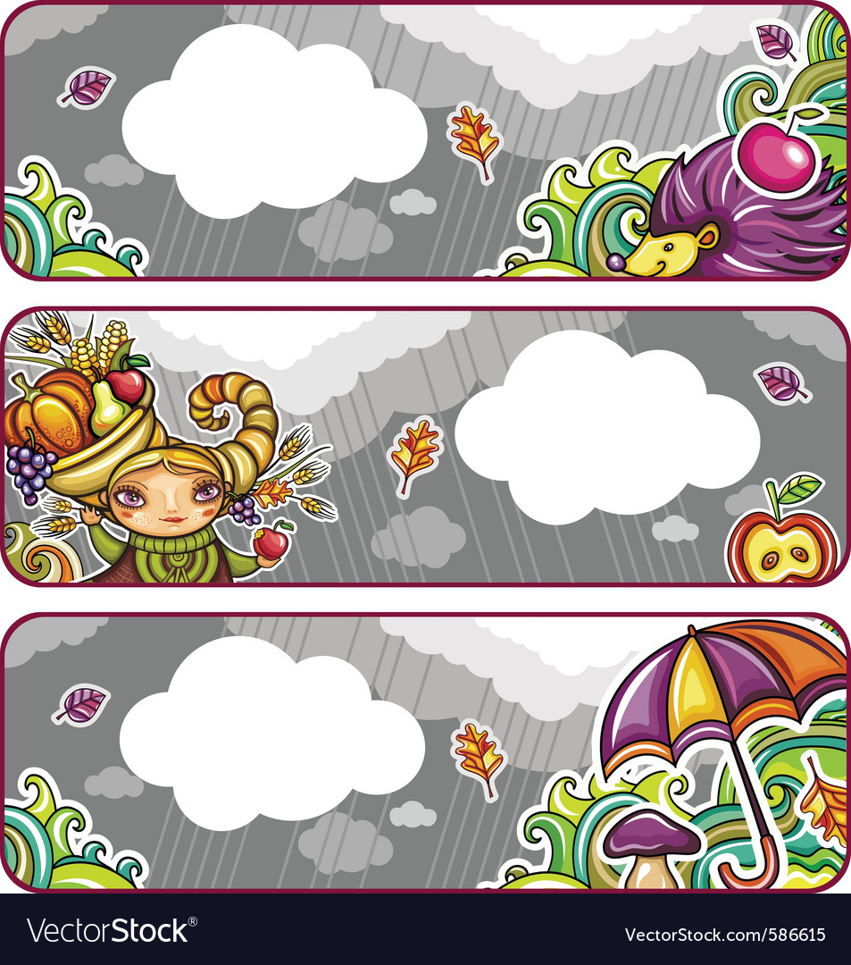 Autumn banners part 2 vector | Price: 3 Credit (USD $3)