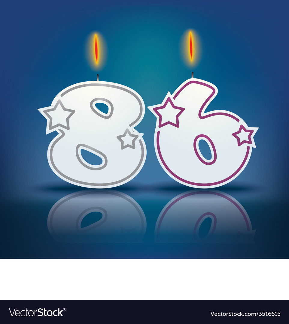 Birthday candle number 86 vector | Price: 1 Credit (USD $1)