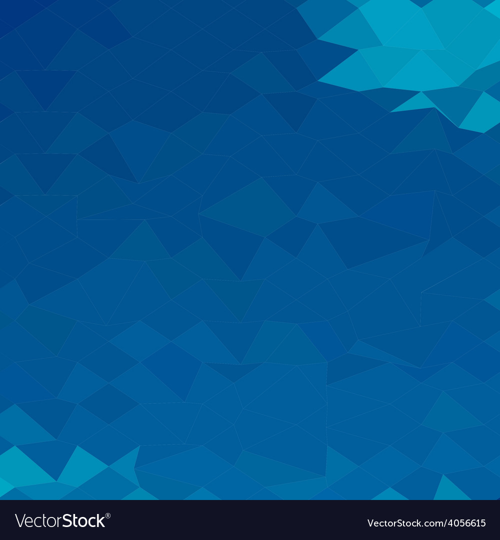 Blue abstract low polygon background vector | Price: 1 Credit (USD $1)