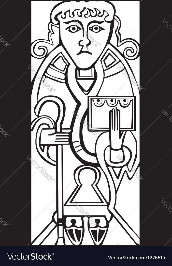 Celtic saint luke vector | Price: 1 Credit (USD $1)