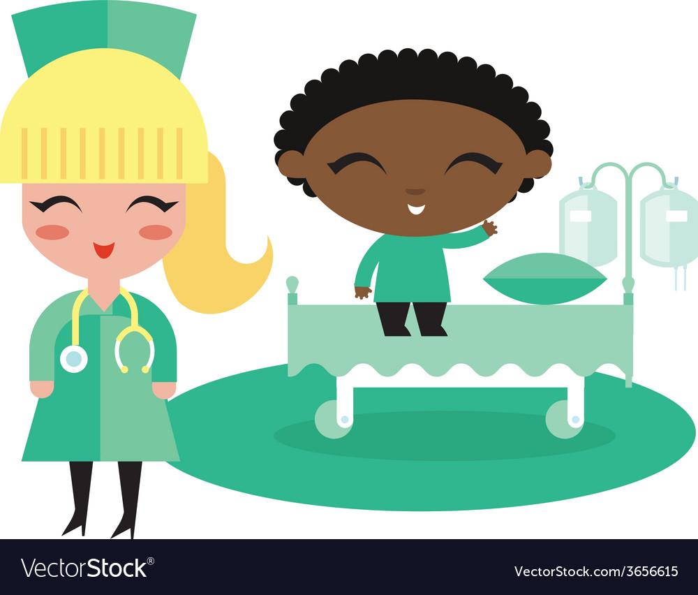 Child kid hospital vector   Price: 1 Credit (USD $1)