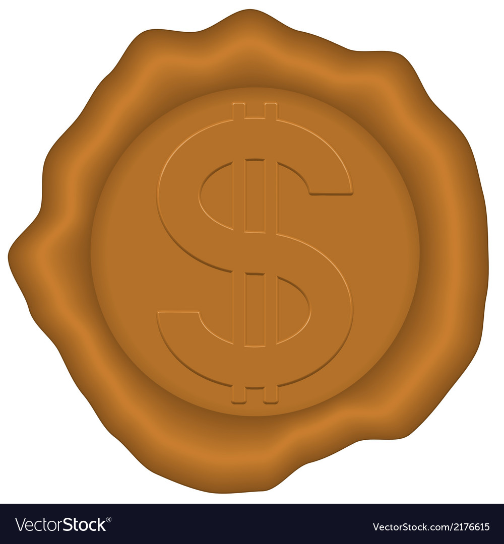 Dollar and sealing wax vector | Price: 1 Credit (USD $1)