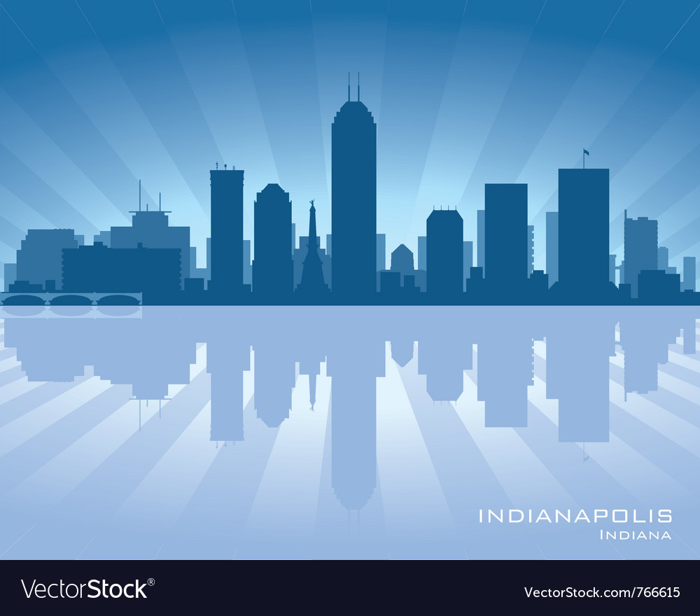 Indianapolis indiana skyline vector | Price: 1 Credit (USD $1)