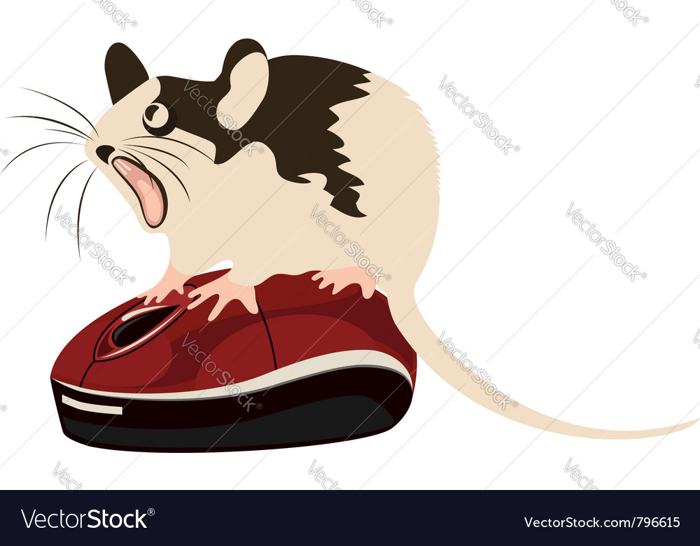 Mouse on a computer mouse vector | Price: 1 Credit (USD $1)