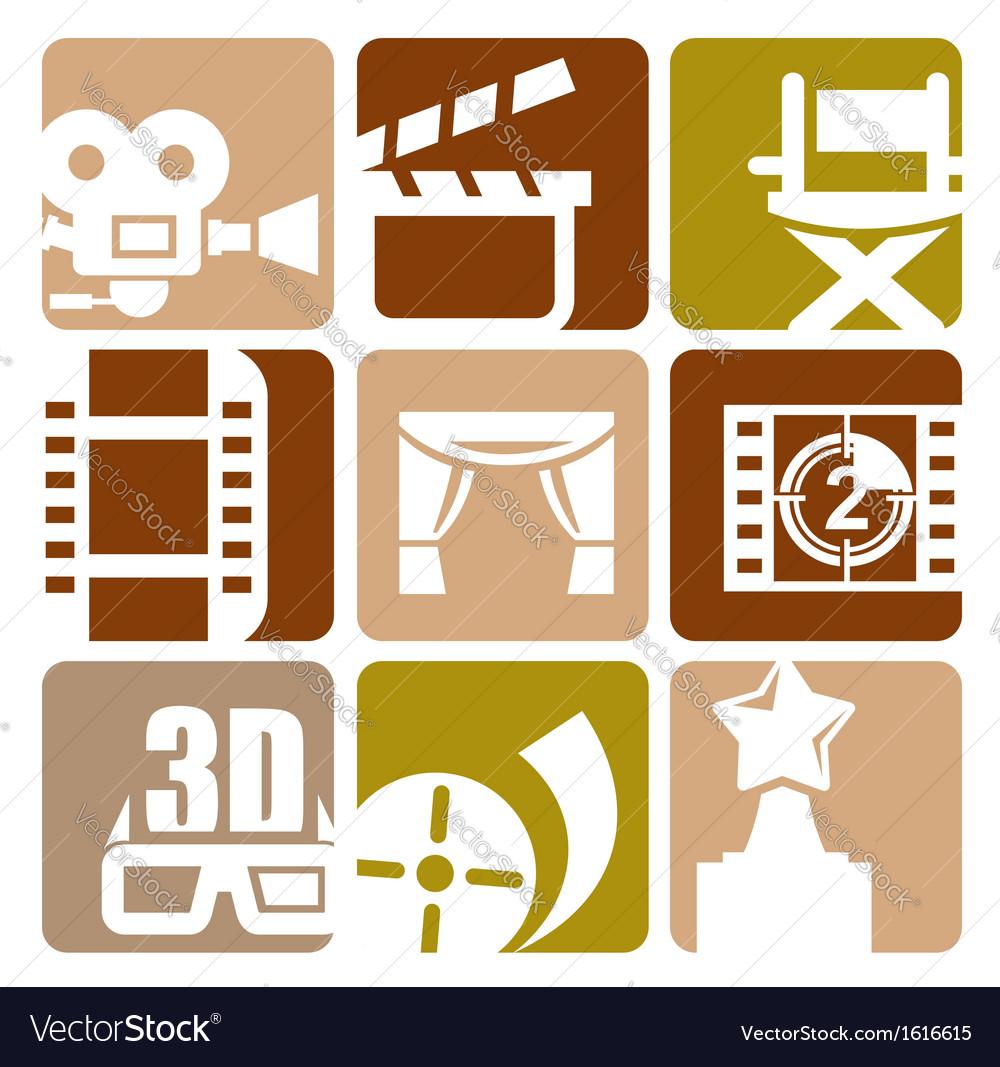 Movie icon vector | Price: 1 Credit (USD $1)