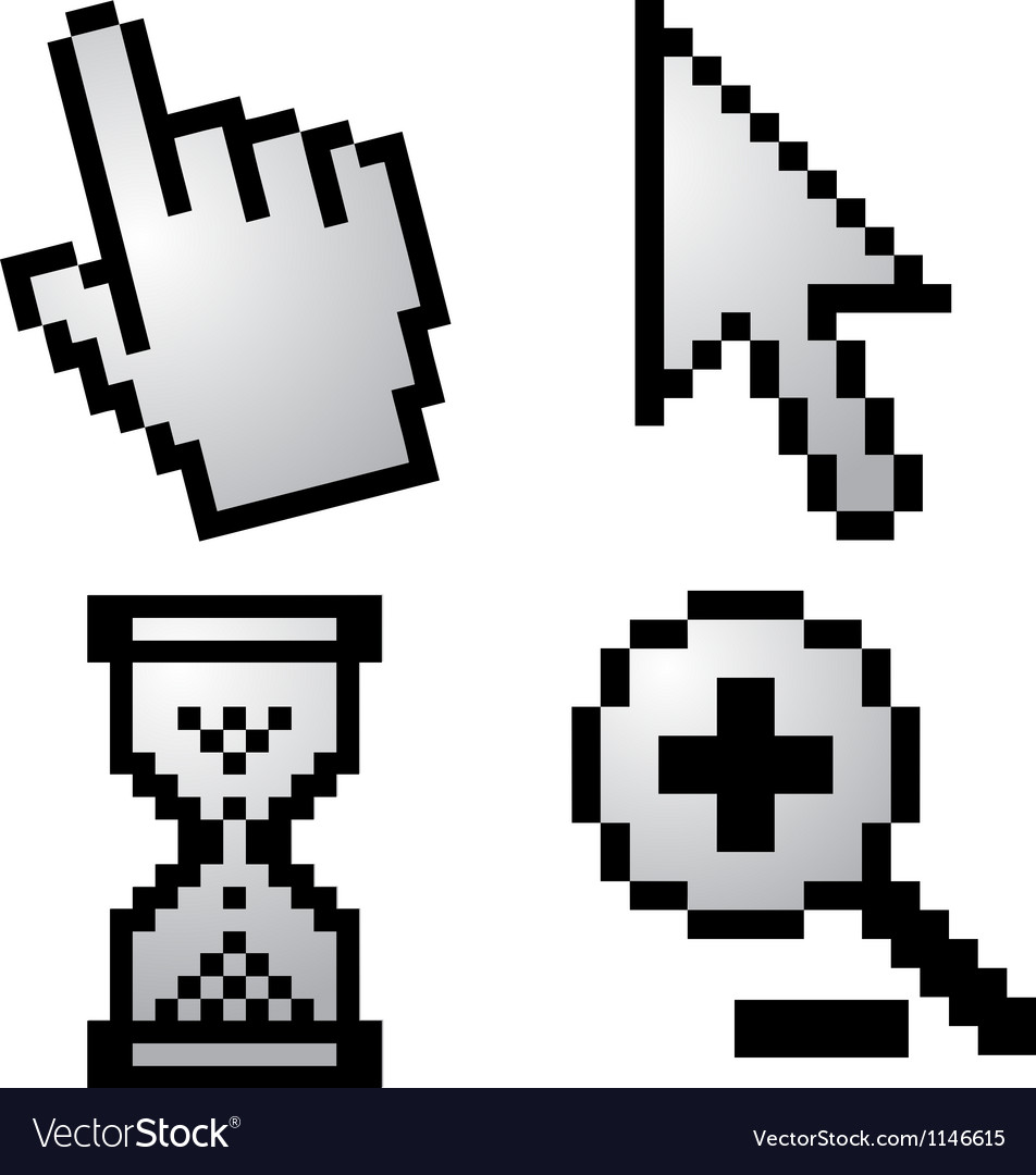 Pixelated computer cursors vector | Price: 1 Credit (USD $1)