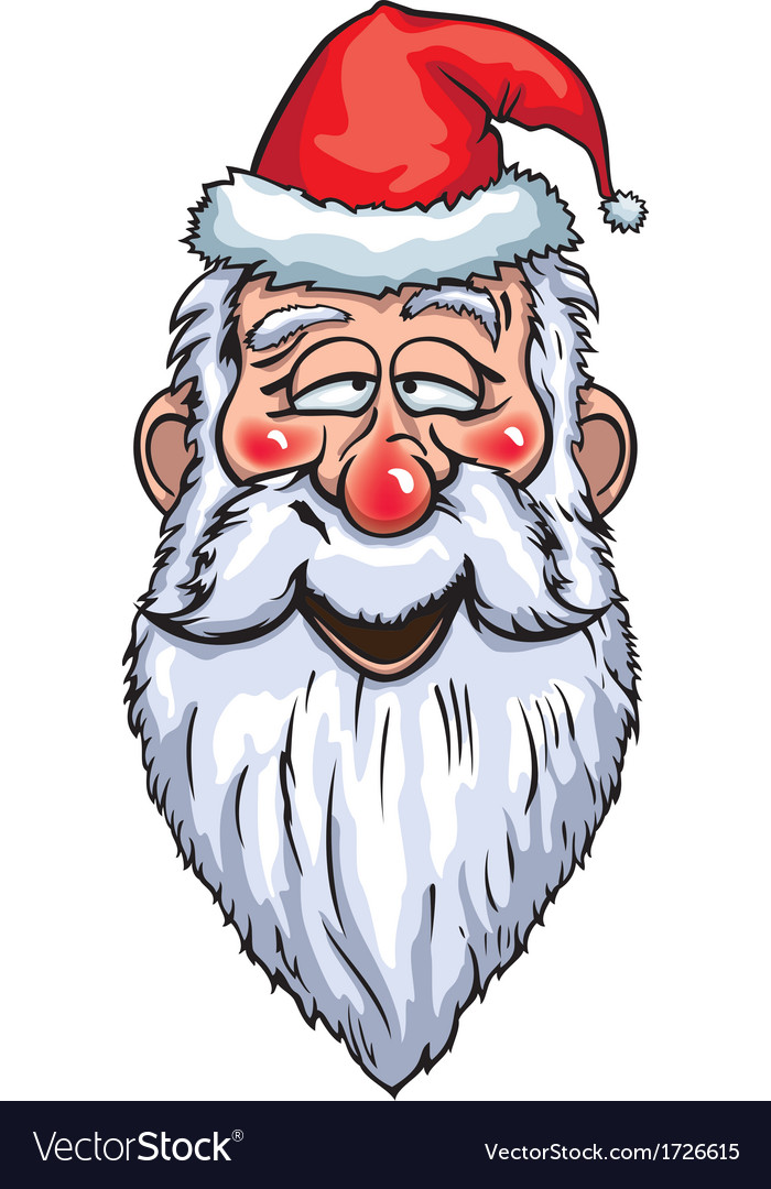 Santa claus enamored head vector | Price: 1 Credit (USD $1)