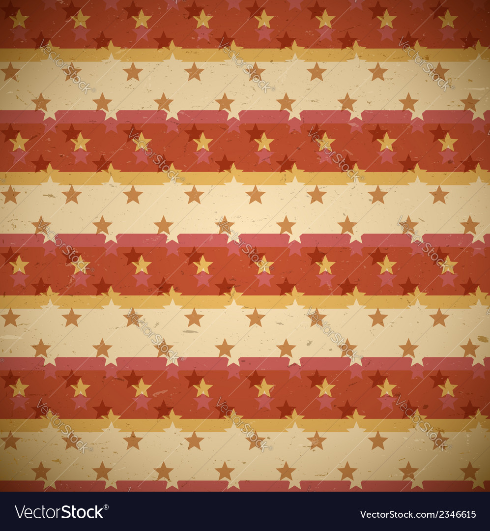 Seamless red pattern with shifted stars vector | Price: 1 Credit (USD $1)