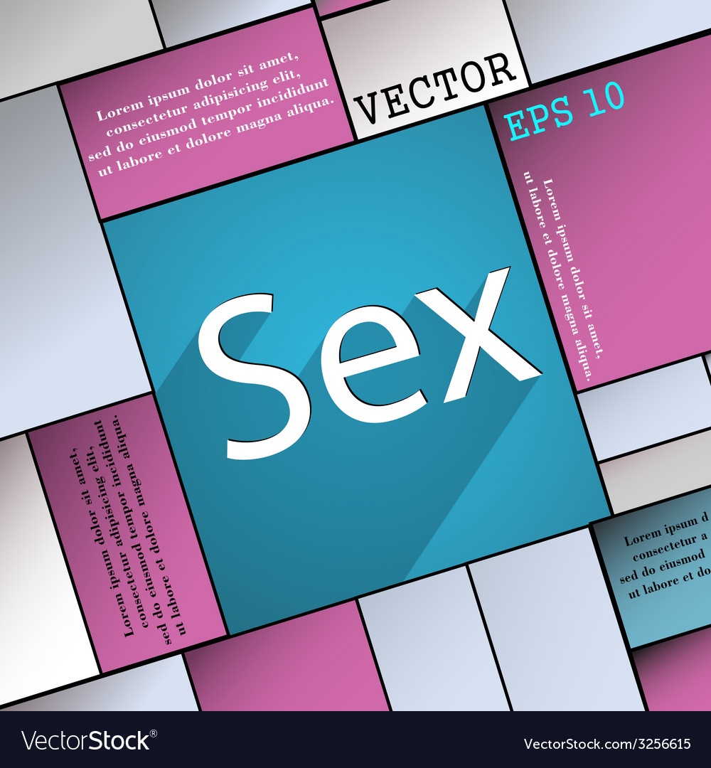Sex icon symbol flat modern web design with long vector