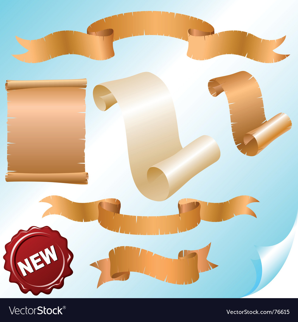 Vintage scrolls and ribbons vector | Price: 1 Credit (USD $1)