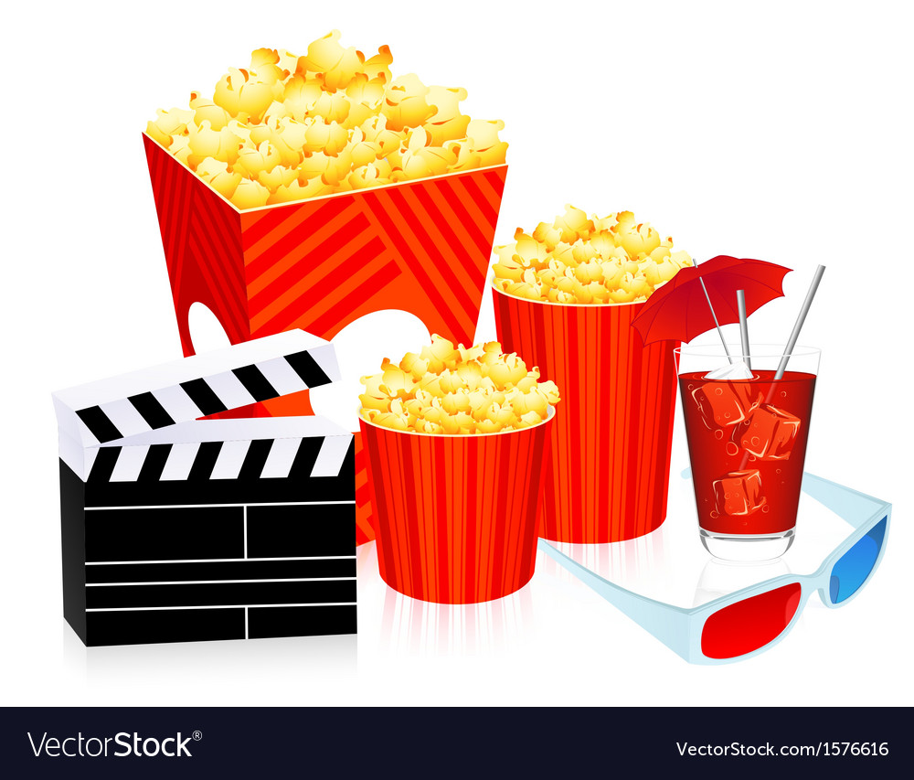 3d cinema objects vector | Price: 1 Credit (USD $1)