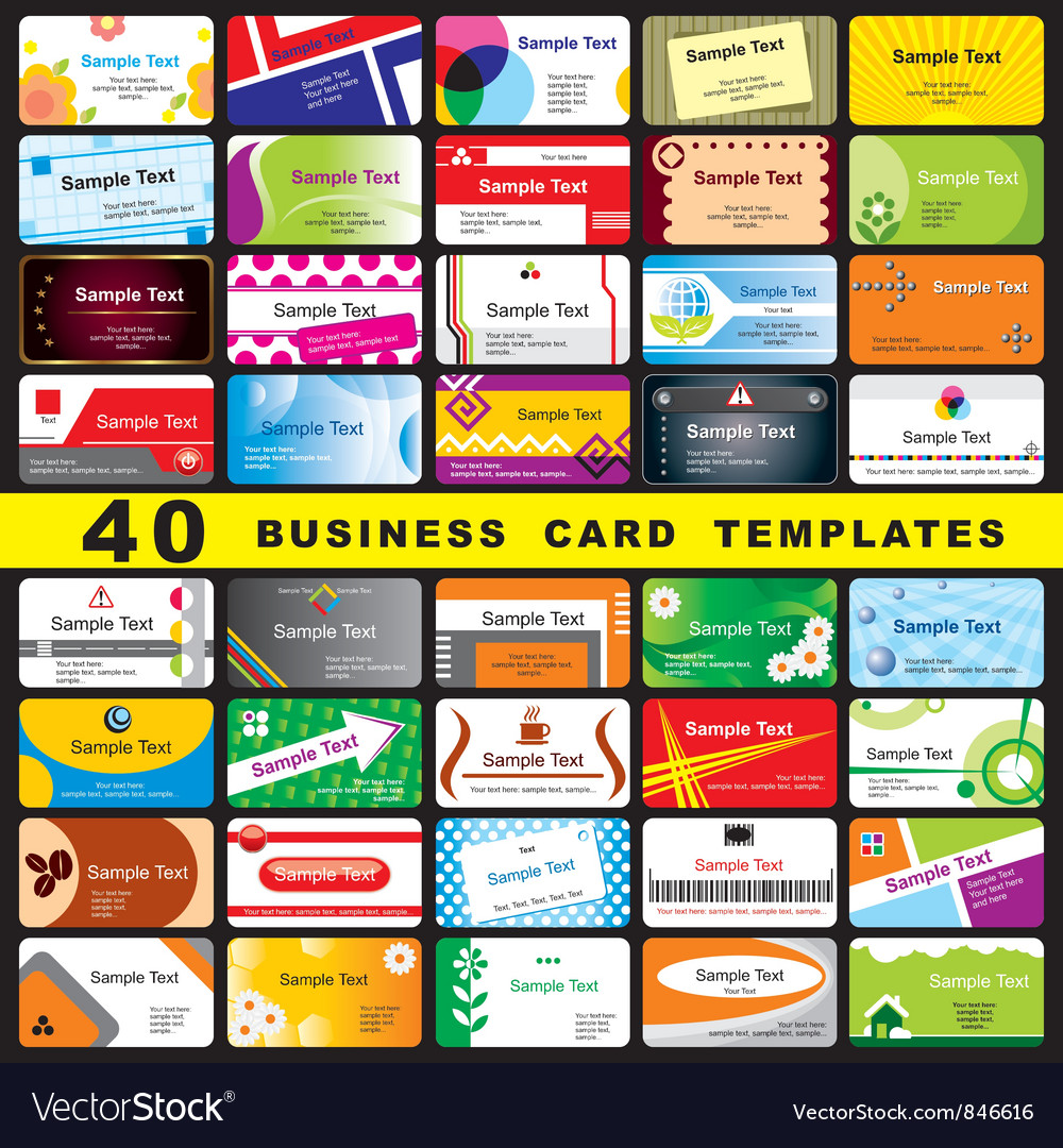 40 business cards vector | Price: 3 Credit (USD $3)