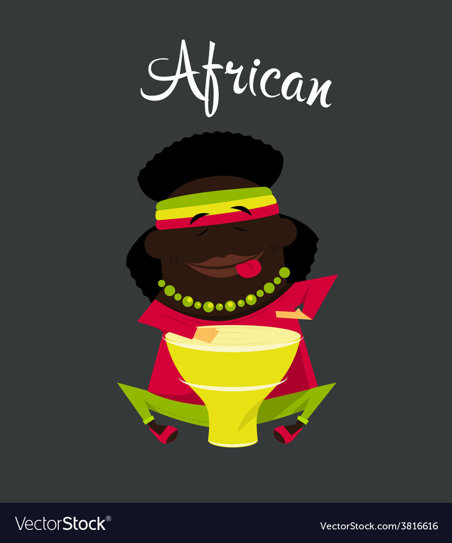 African black or negro man character africa vector | Price: 1 Credit (USD $1)