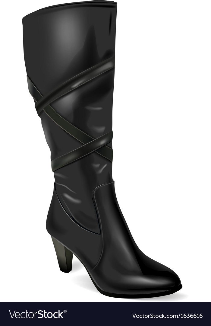 Black boot vector | Price: 1 Credit (USD $1)
