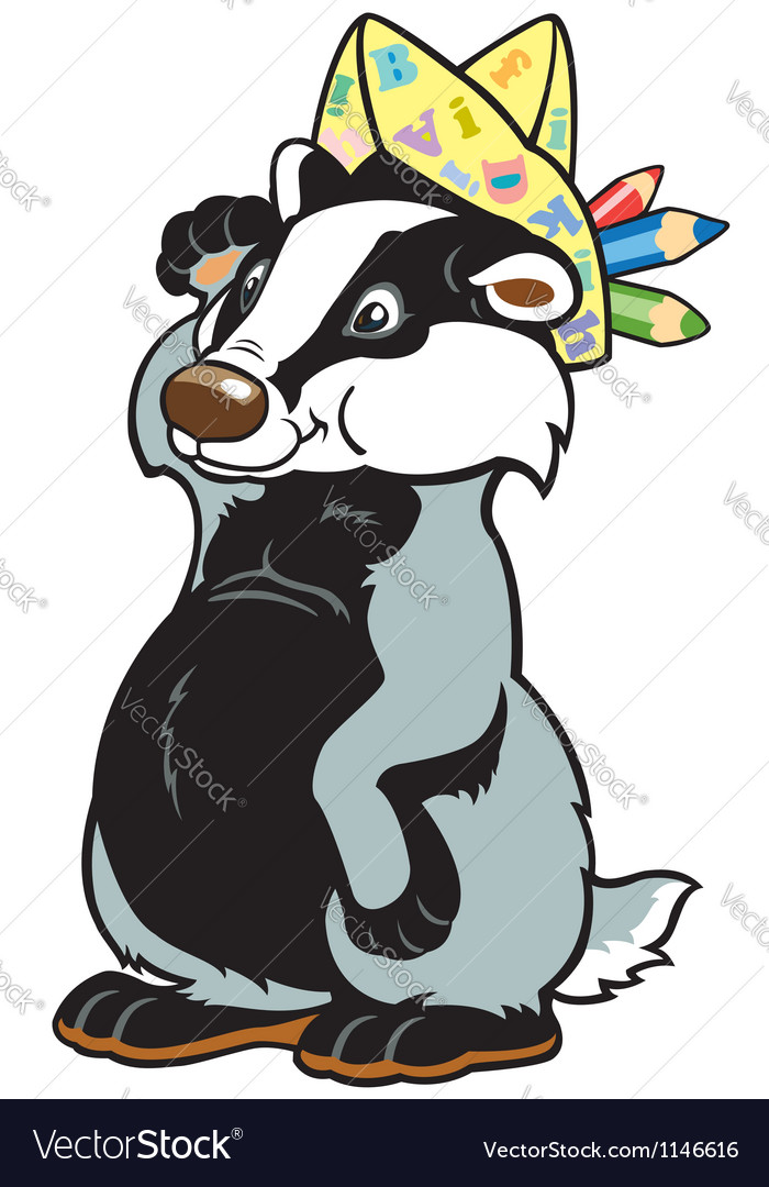 Childish badger vector | Price: 1 Credit (USD $1)