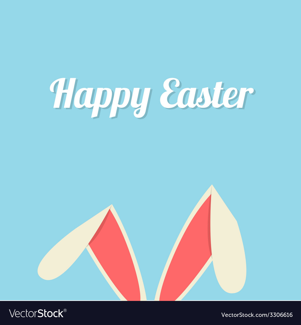 Easter bunny ears card vector | Price: 1 Credit (USD $1)
