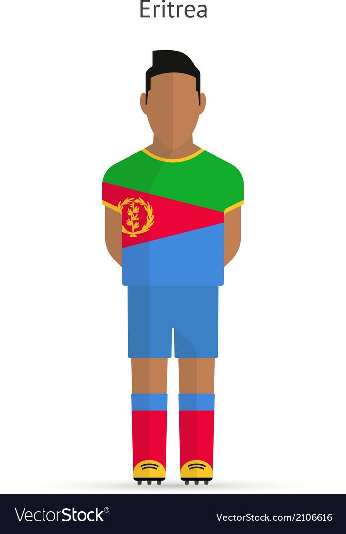 Eritrea football player soccer uniform vector | Price: 1 Credit (USD $1)