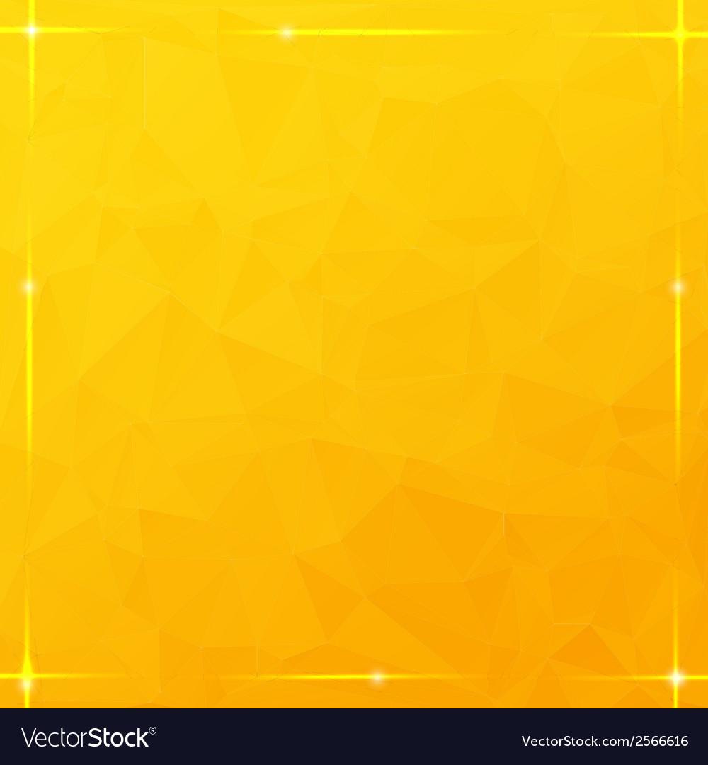 Glowing thread border on orange triangular vector | Price: 1 Credit (USD $1)