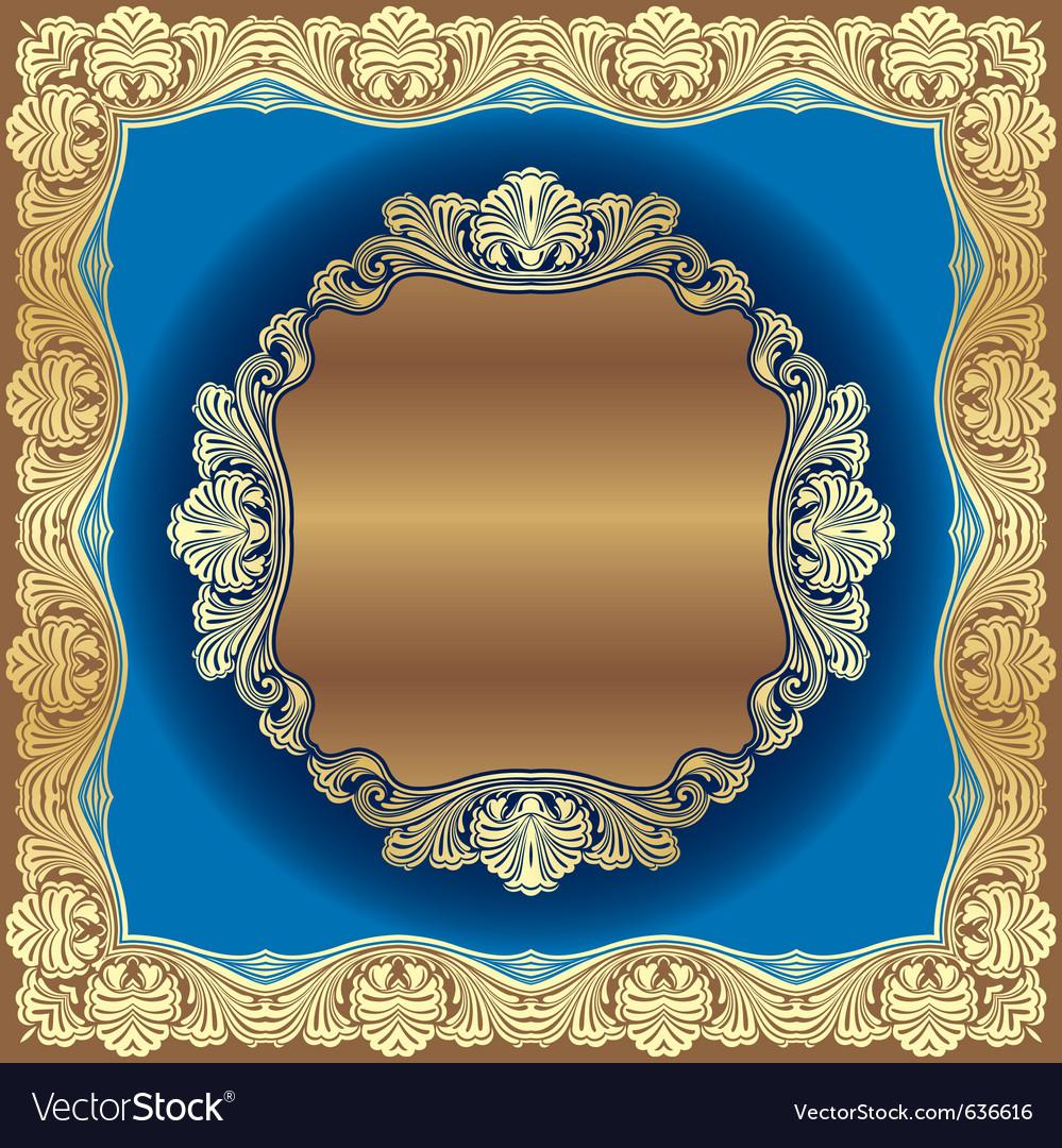 Golden border vector | Price: 1 Credit (USD $1)