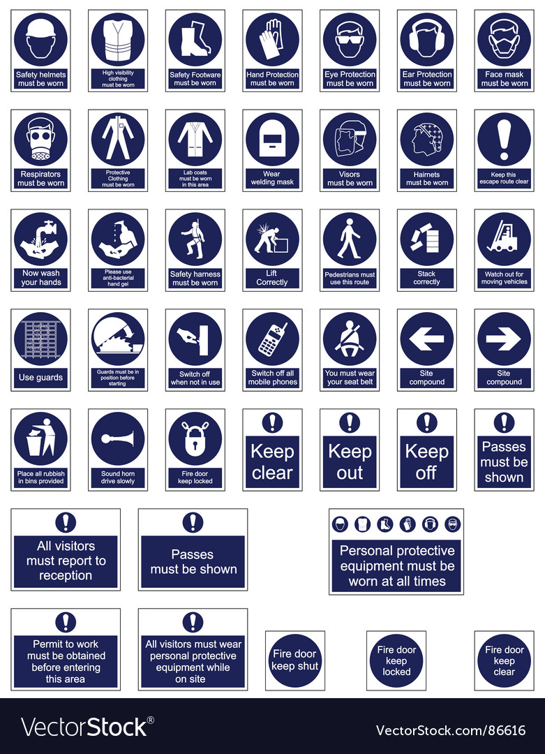 Health and safety signs vector | Price: 1 Credit (USD $1)