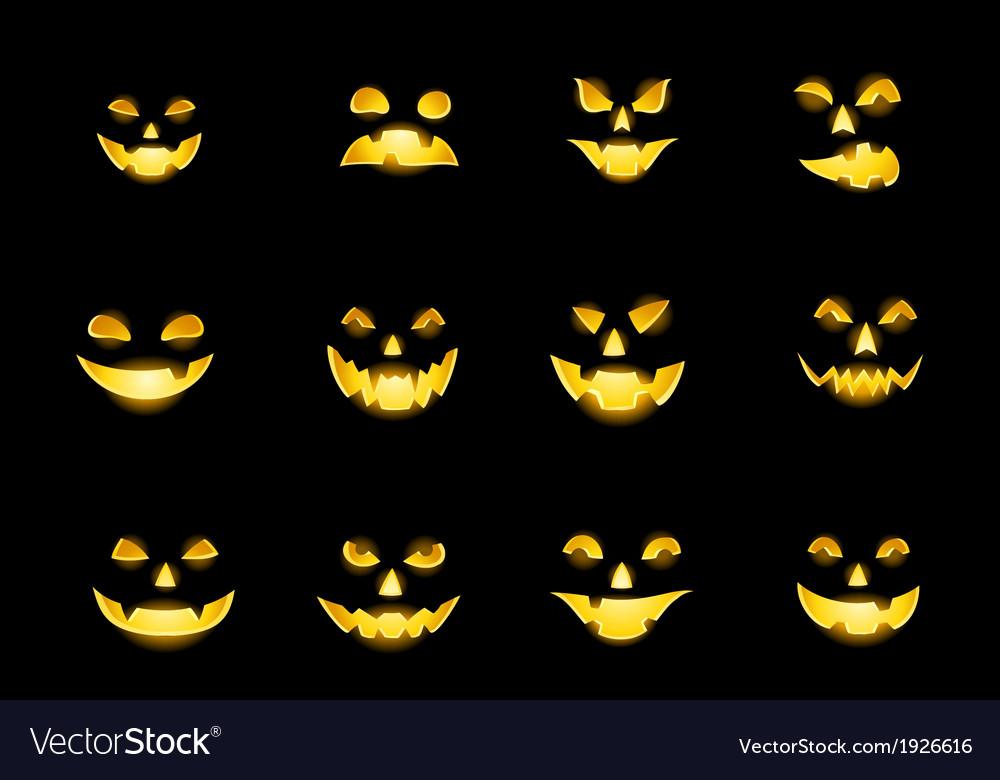 Jack o lantern faces vector | Price: 1 Credit (USD $1)