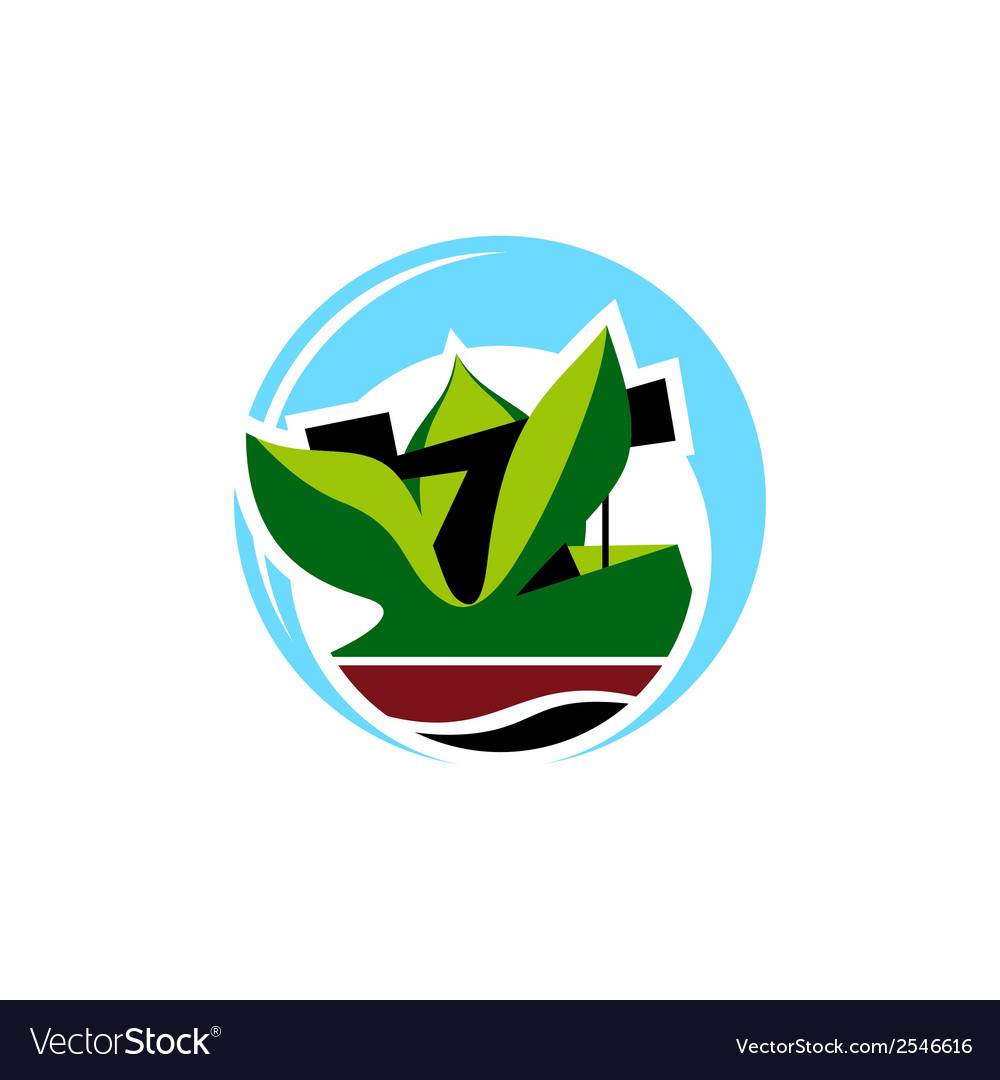 Land reclamation sign vector | Price: 1 Credit (USD $1)