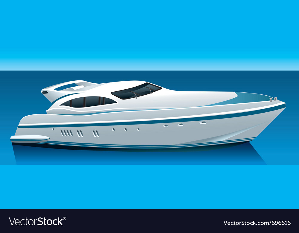 Luxury yacht vector | Price: 3 Credit (USD $3)