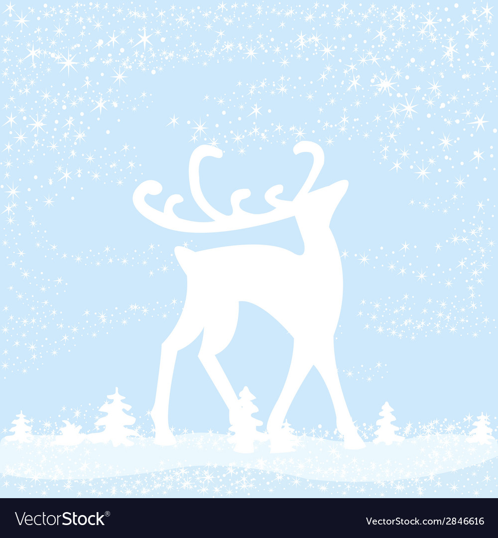 Reindeer in forest vector | Price: 1 Credit (USD $1)