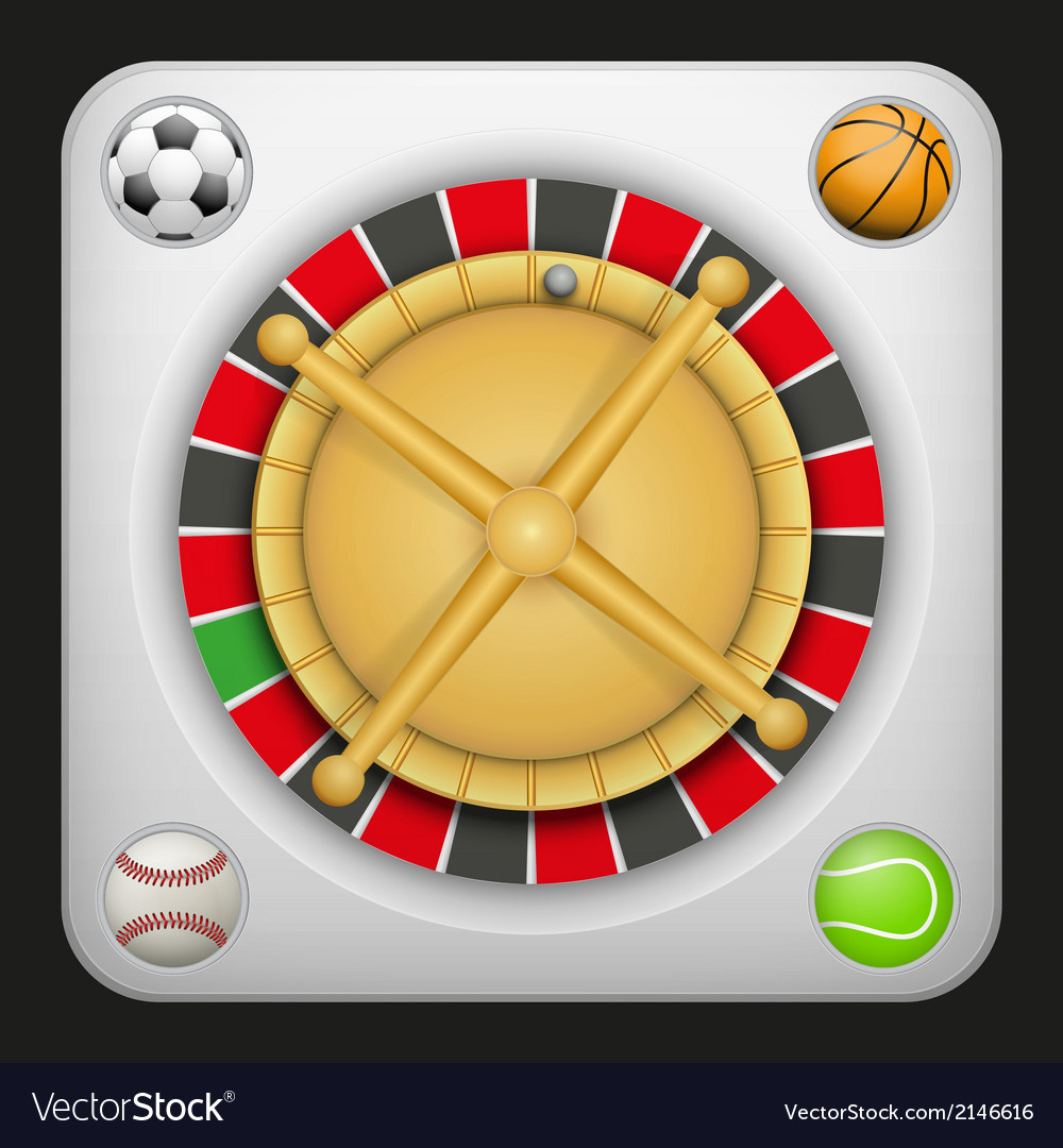 Symbol roulette casino for sports betting with vector | Price: 1 Credit (USD $1)