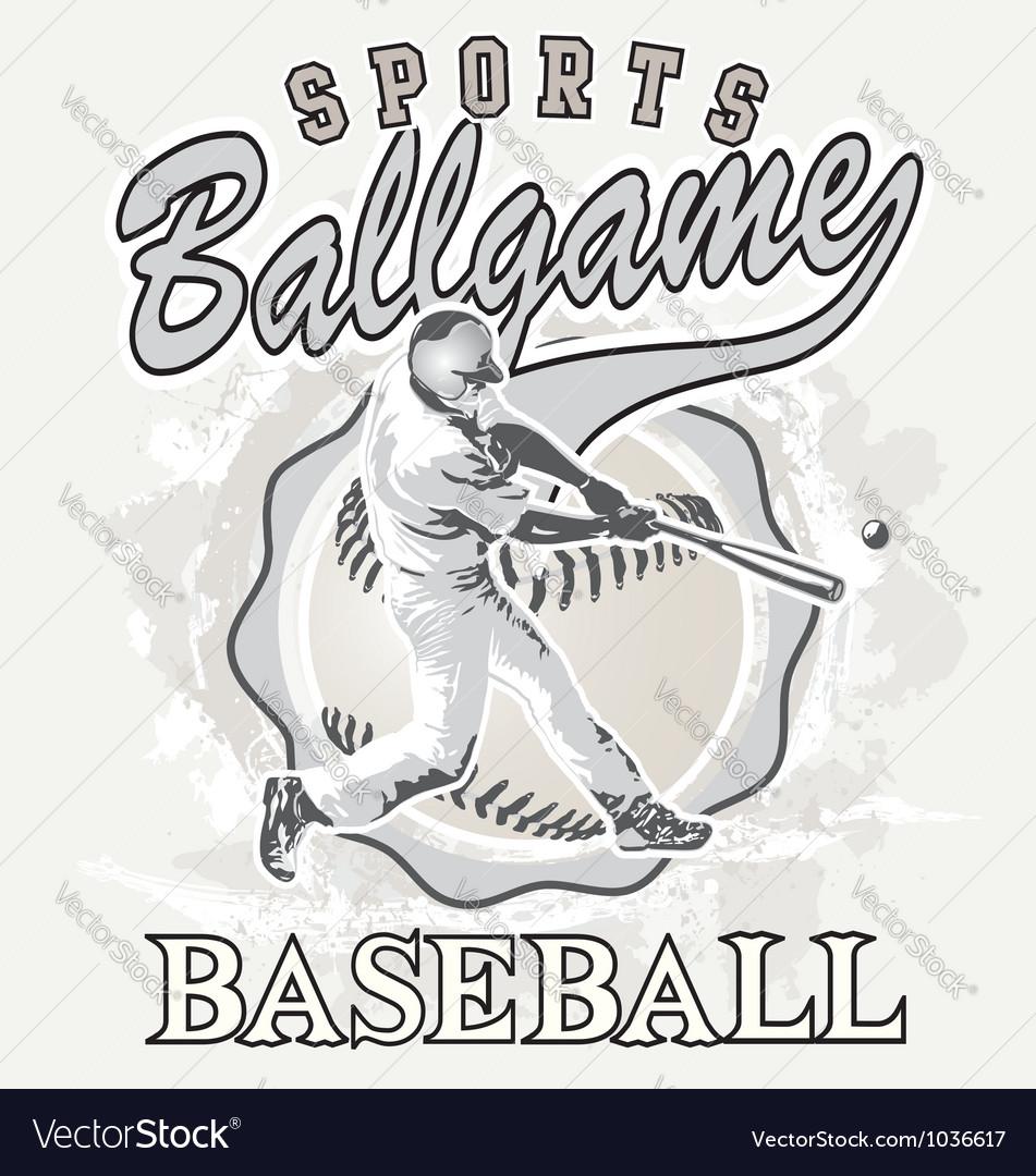 Ball game baseball vector | Price: 1 Credit (USD $1)