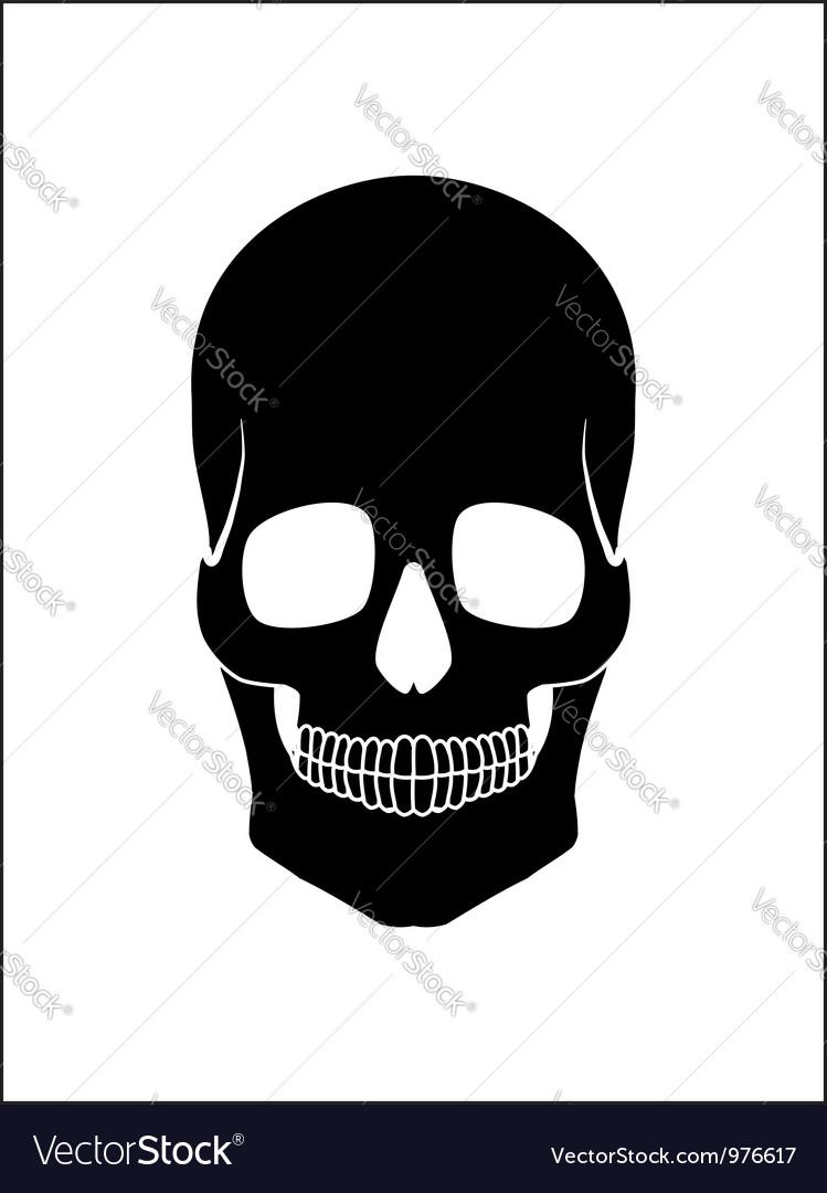Black skull vector | Price: 1 Credit (USD $1)