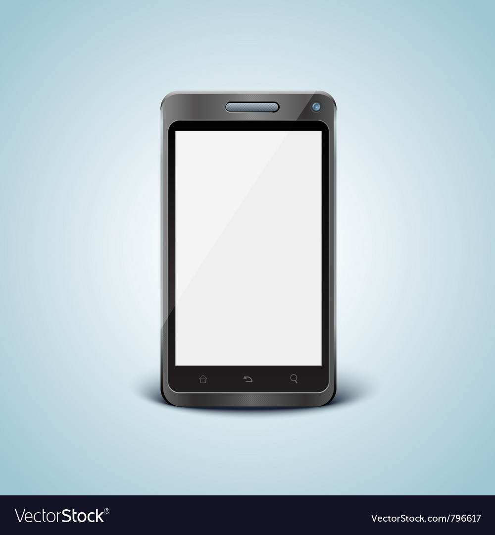 Cellphone with blank screen vector   Price: 1 Credit (USD $1)