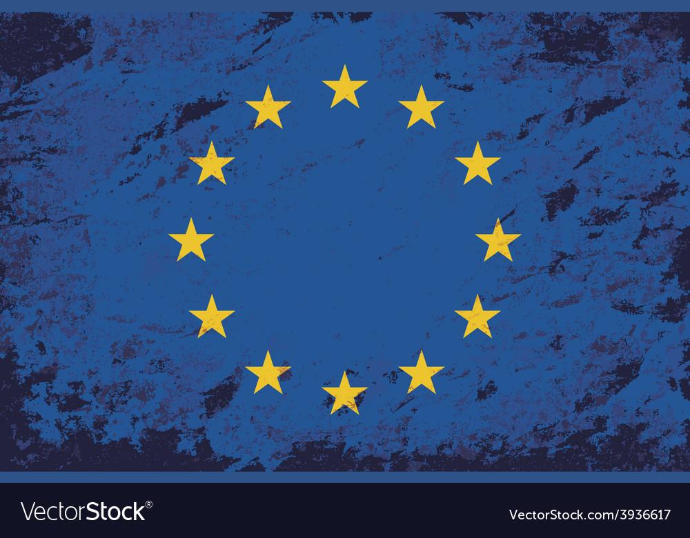 European union flag grunge background vector | Price: 1 Credit (USD $1)