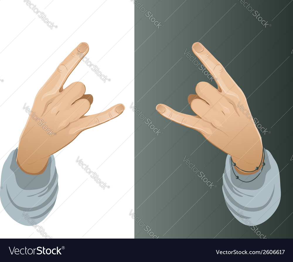 Hand with a hip-hop yo gesture vector | Price: 1 Credit (USD $1)