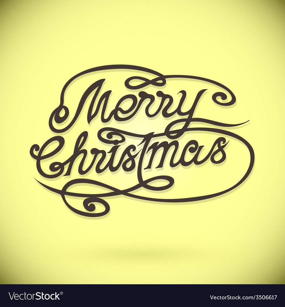 Merry christmas hand letteringcustom handmade vector | Price: 1 Credit (USD $1)