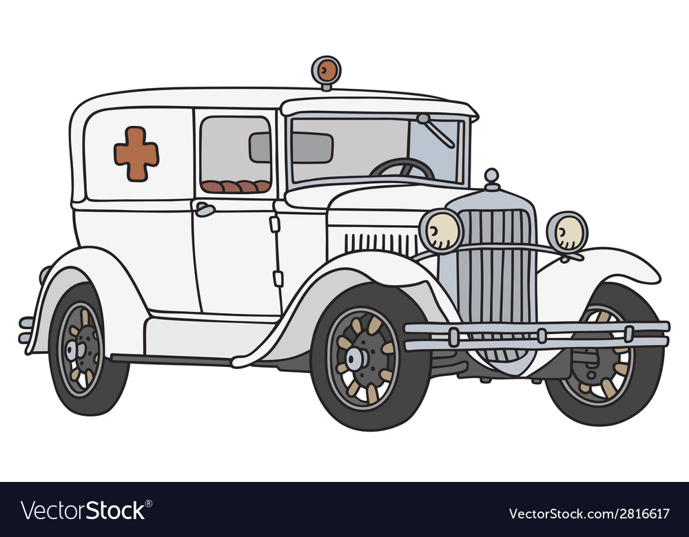 Old ambulance vector | Price: 1 Credit (USD $1)