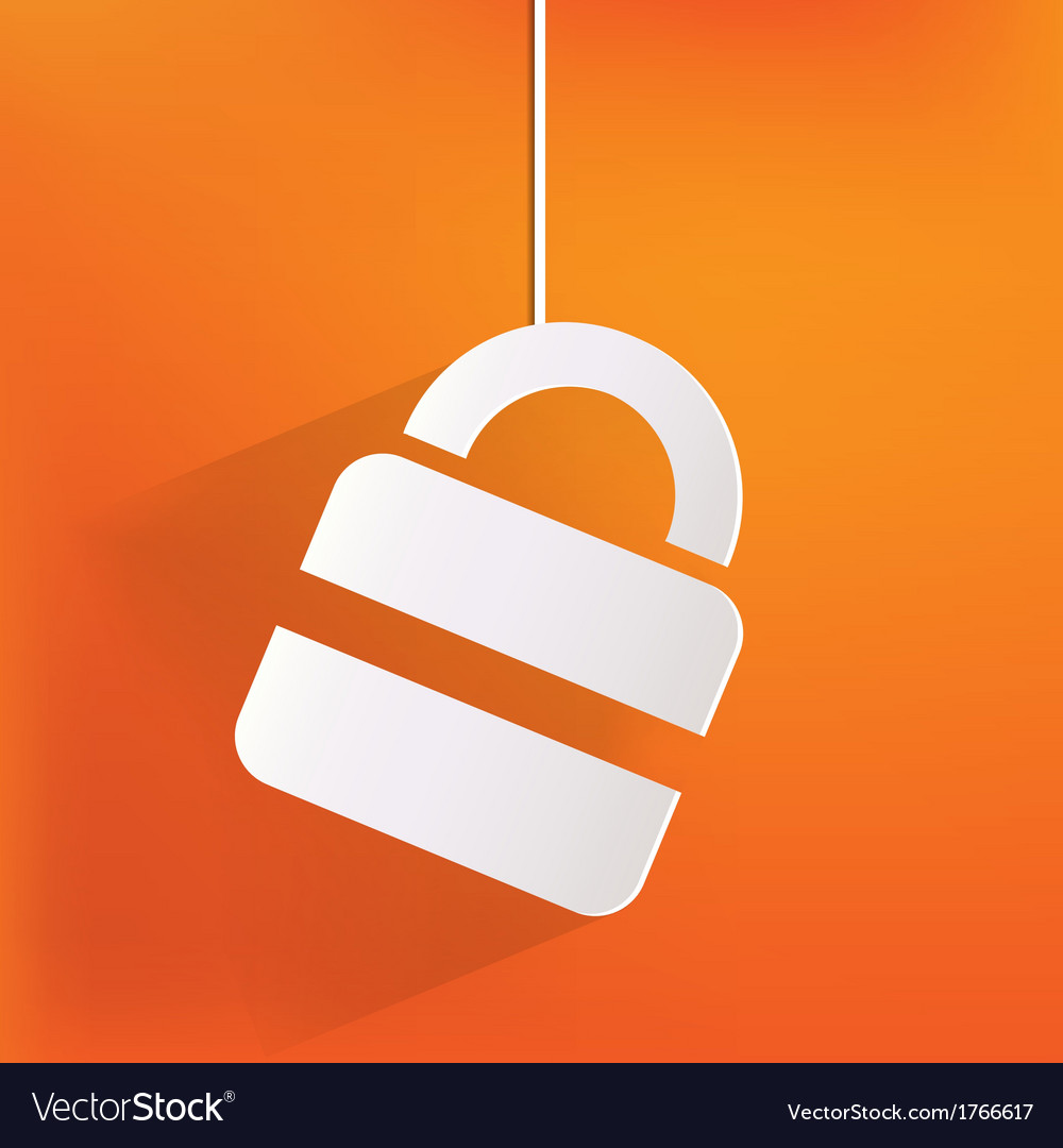 Padlock web icon vector   Price: 1 Credit (USD $1)